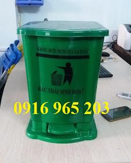 Thùng rác y tế 15 lít màu xanh lá