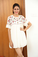 Lavanya Tripathi in Summer Style Spicy Short White Dress at her Interview  Exclusive 265.JPG