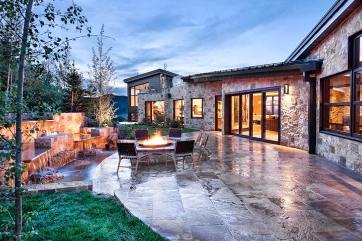 Terrace In Modern Mountain House Aspen Colorado