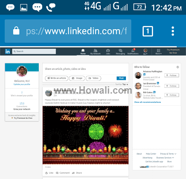 How to View Linkedin Desktop Site Full Version on iPhone