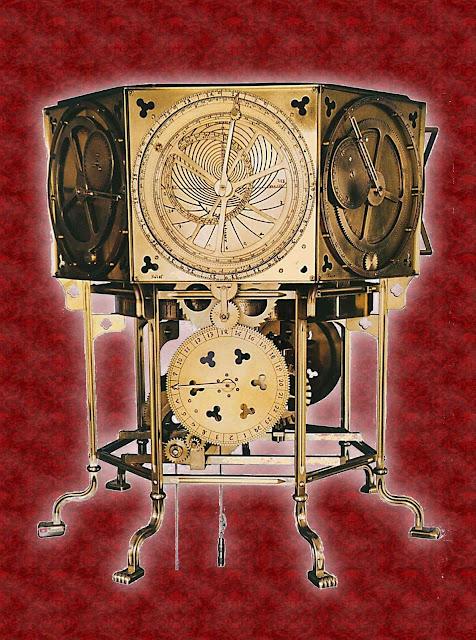 Relógio astronômico de Dondi, ou Astrarium, feito no ano 1364 em Pádua.