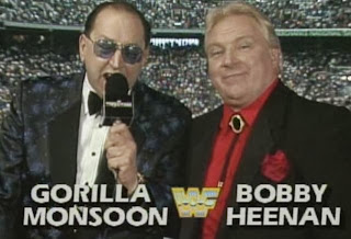 WWF / WWE: WRESTLEMANIA 8 - Gorilla Monsoon and Bobby 'The Brain'' Heenan hosted the show