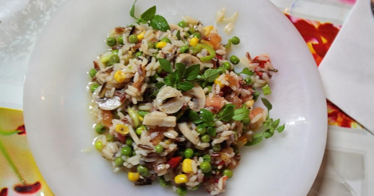 Ensalada de arroz vegetariana - Ensalada de arroz light ...