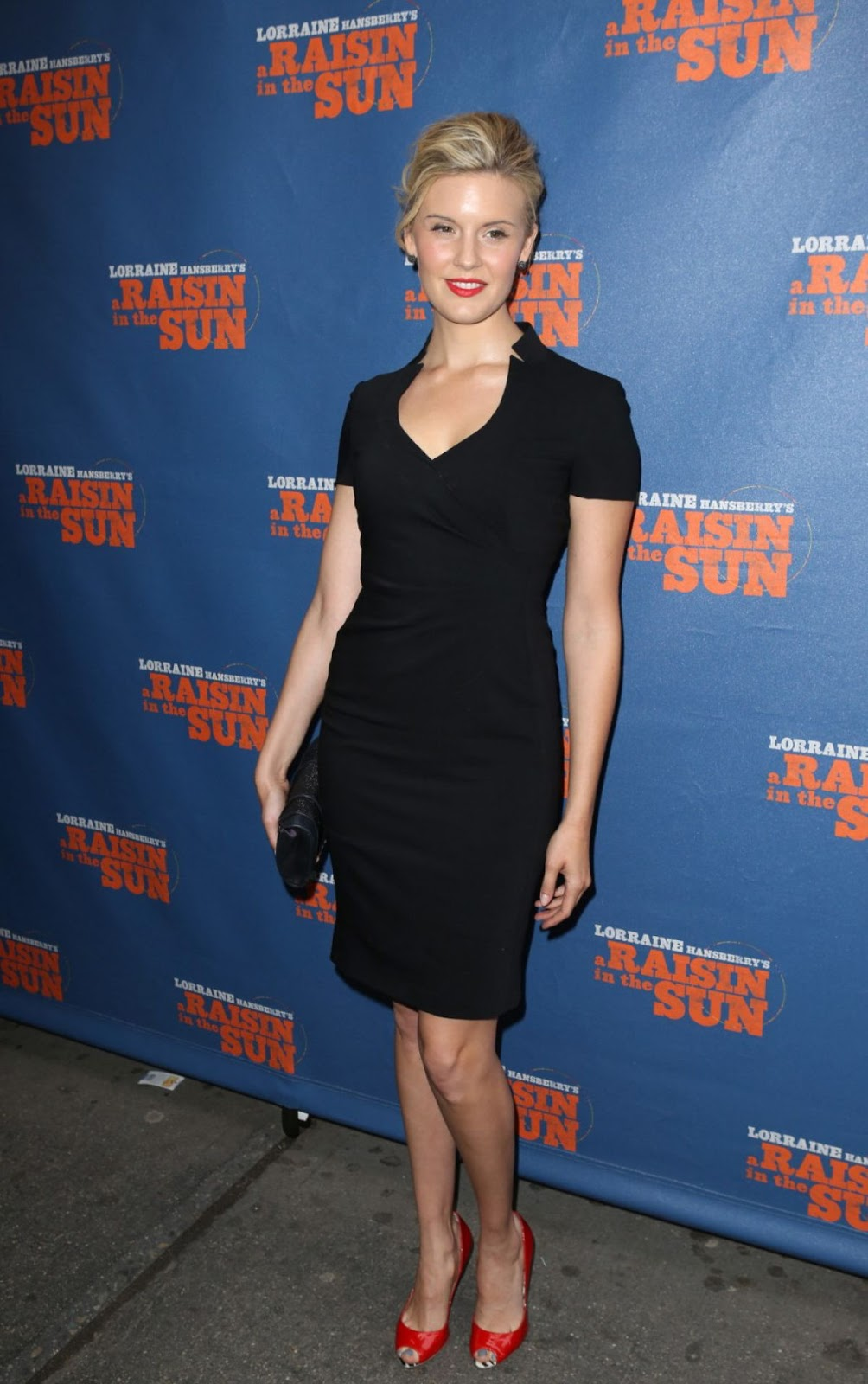 '478' actress Maggie Grace at a Raisin in The sun Broadway Opening Night in NY