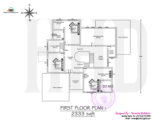 Drawing of First floor plan