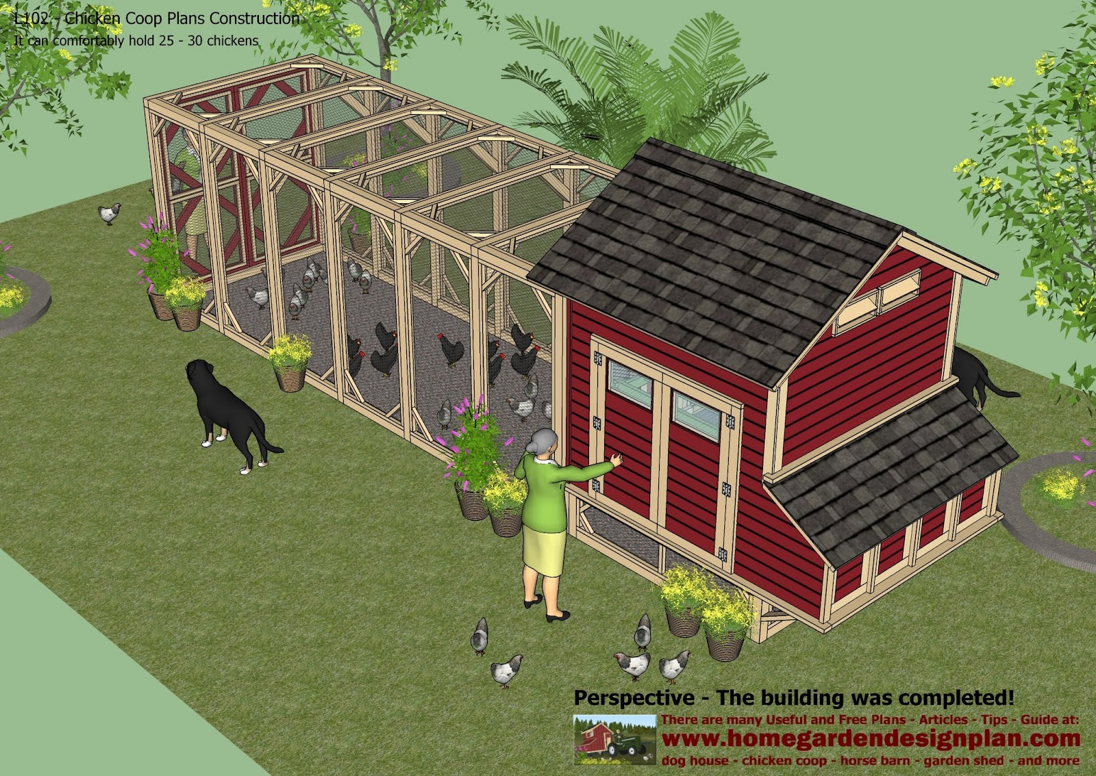 Sntila L102 Chicken Coop Plans Construction Chicken Coop