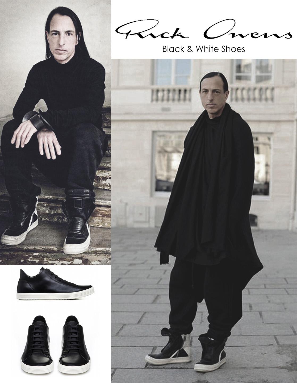 Rick Owens cómoda y oscura inspiración en blanco y negro