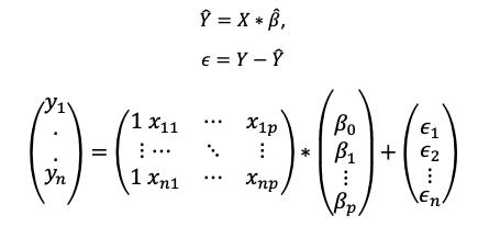 Ecuación matricial extendida.