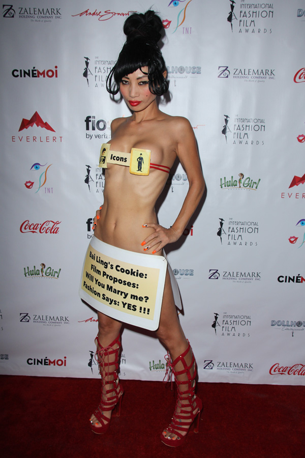 Checkout what actress Bai Ling wore to a film award