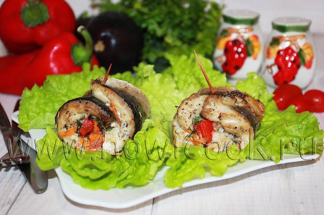 рецепт рыбных рулетиков с овощами