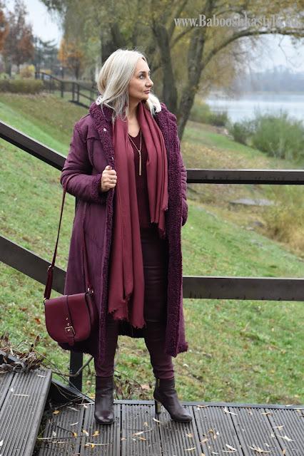 Orsay, Babooshkastyle, blogfashion, fashion, moda, blogerkamodowa, tregginsy, burgund, Bonprix, GinoRossi, stylistka, personal shopper