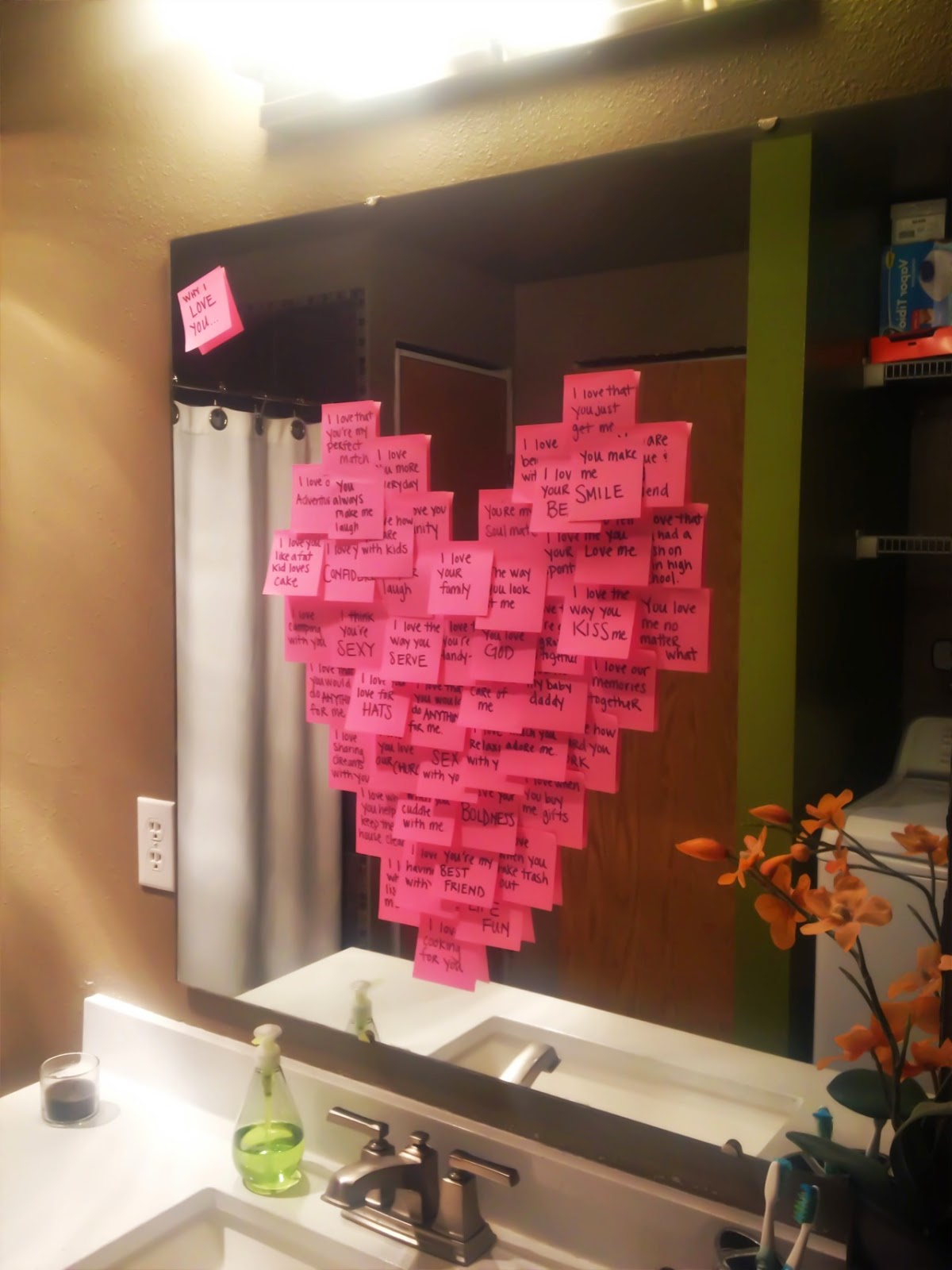 Creative Party Ideas By Cheryl Valentine Post It Love Notes