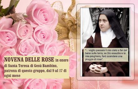 🌹🌹 NOVENA DELLE ROSE in onore di Santa Teresa di Gesù Bambino, patrona di questo gruppo,