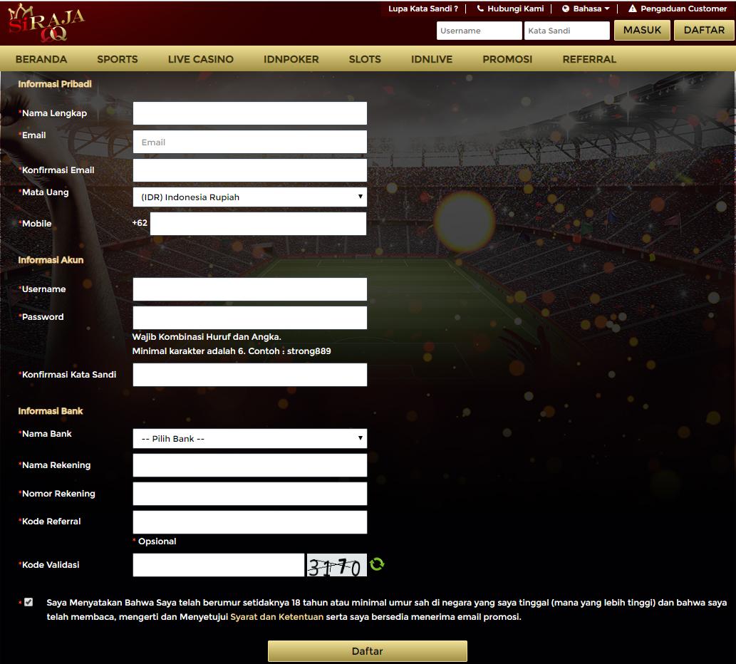 Panduan Cara Mendaftar di Situs SIRAJAQQ Yang Lengkap dan