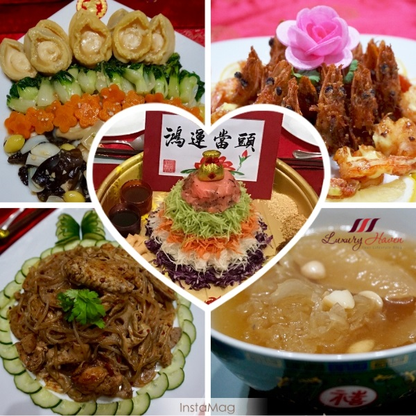 chinese new year menu auspicious dishes
