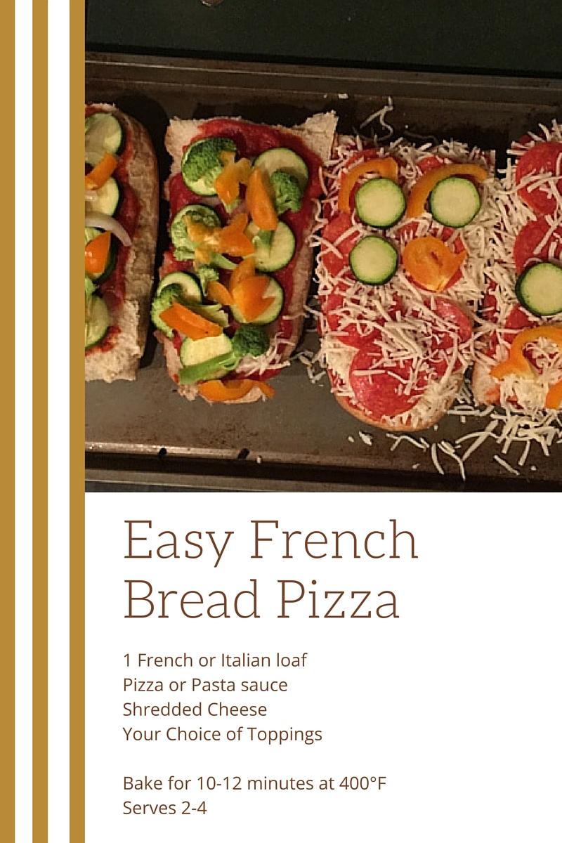 Quick + Easy French Bread Pizza // WWW.THEJOYBLOG.NET