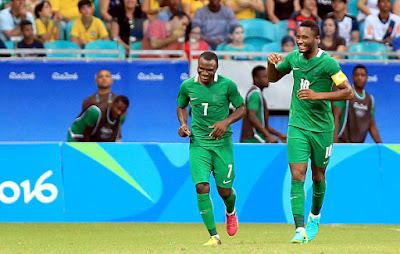 Rio2016 Olympic Nigeria's Eagles beat Denmark 2':0 To Reach Semi final