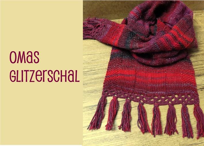 Titelbild mit rotem gestrickten Schal