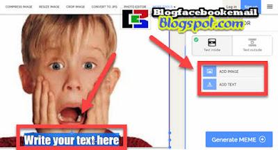 cara membuat foto dengan tulisan meme online