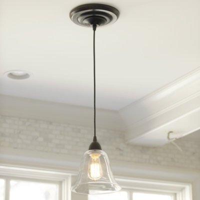 Pendant light shade adapter