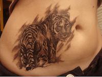 тату тигра для девушек
