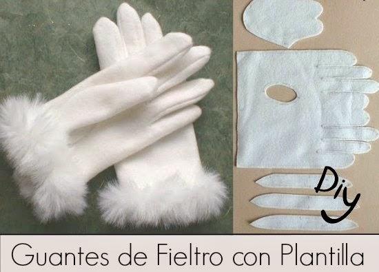 guantes, fieltro, costura, accesorios