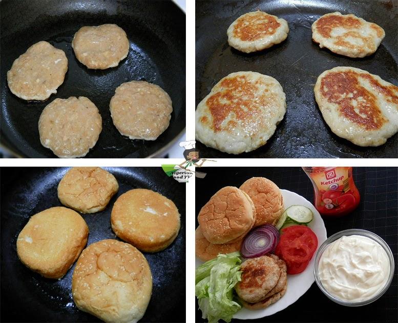 Chicken Burgers - Homemade Chicken Burger , nigerian food tv, nigerian food recipes