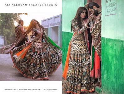 Fancy bridal wear dresses collection by famous Pakistani designers
