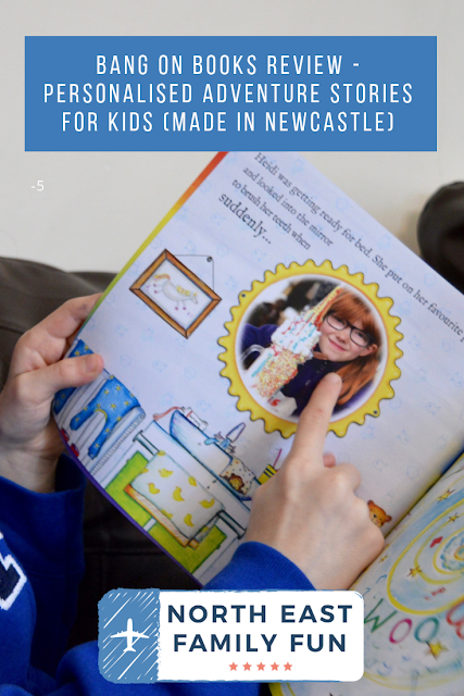 Bang on Books Review - Personalised Adventure Stories for Kids (made in Newcastle)