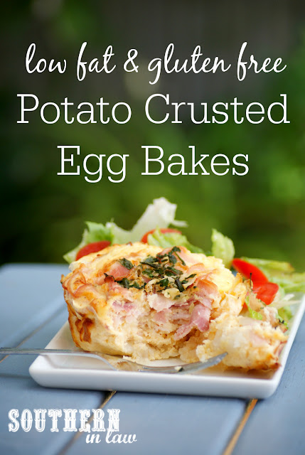 Healthy Tater Tot Crusted Egg Bakes Recipe - low fat, gluten free, healthy, high protein, easy quiche recipes, healthy frittata recipes