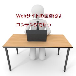 Webサイトの差別化はコンテンツで行う