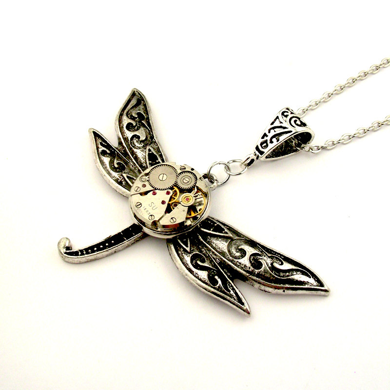 09-Dragonfly-Pendant-Clockwork-Nicholas-Hrabowski-Steampunk-Jewelry-from-Recycled-Watches-and-Bullets-www-designstack-co