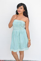 Sahana New cute Telugu Actress in Sky Blue Small Sleeveless Dress ~  Exclusive Galleries 017.jpg
