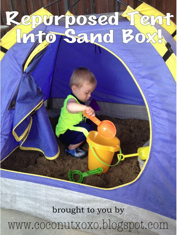 Repurpose A Kids Tent Into A Sandbox & Coconut Love: Repurpose A Kids Tent Into A Sandbox