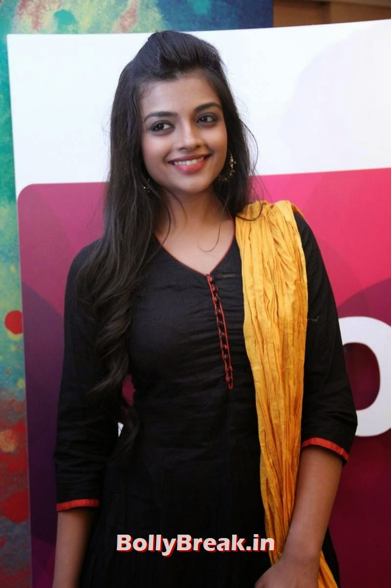 , Dusky Actress Photos in Black Churidar Suit -  Ashna Zaveri