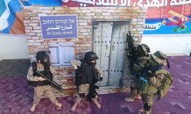 Палестинские дети на занятиях в школе