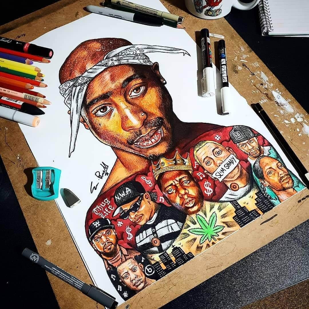 06-Tupac-Shakur-S-Brunell-Movie-Drawings-within-Drawings-www-designstack-co