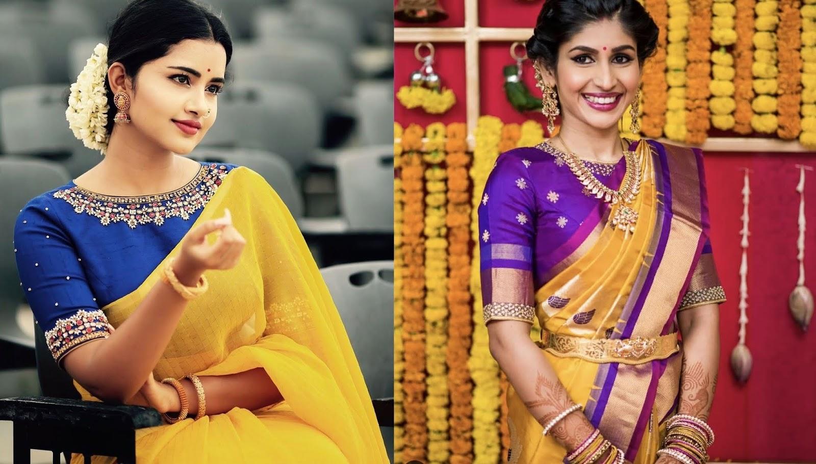 5d1ce1b842b9c  24 Alluring high neck maggam work blouse designs for pattu sarees