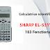 Calculatrice scientifique SHARP EL-531VH - 183 Fonctions (Statistique)