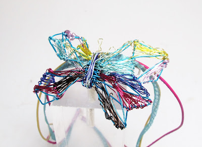 Wing necklace, wire sculpture