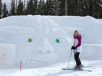 Yoda Snow Carving in Beaver Creek | Live The Prep Life