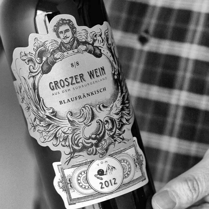 Blaufränkisch-Wein des Weingutes Groszer Wein aus dem Burgenland in Österreich.