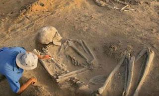 Szkielet Giganta odkryty w Wernie w Bułgari