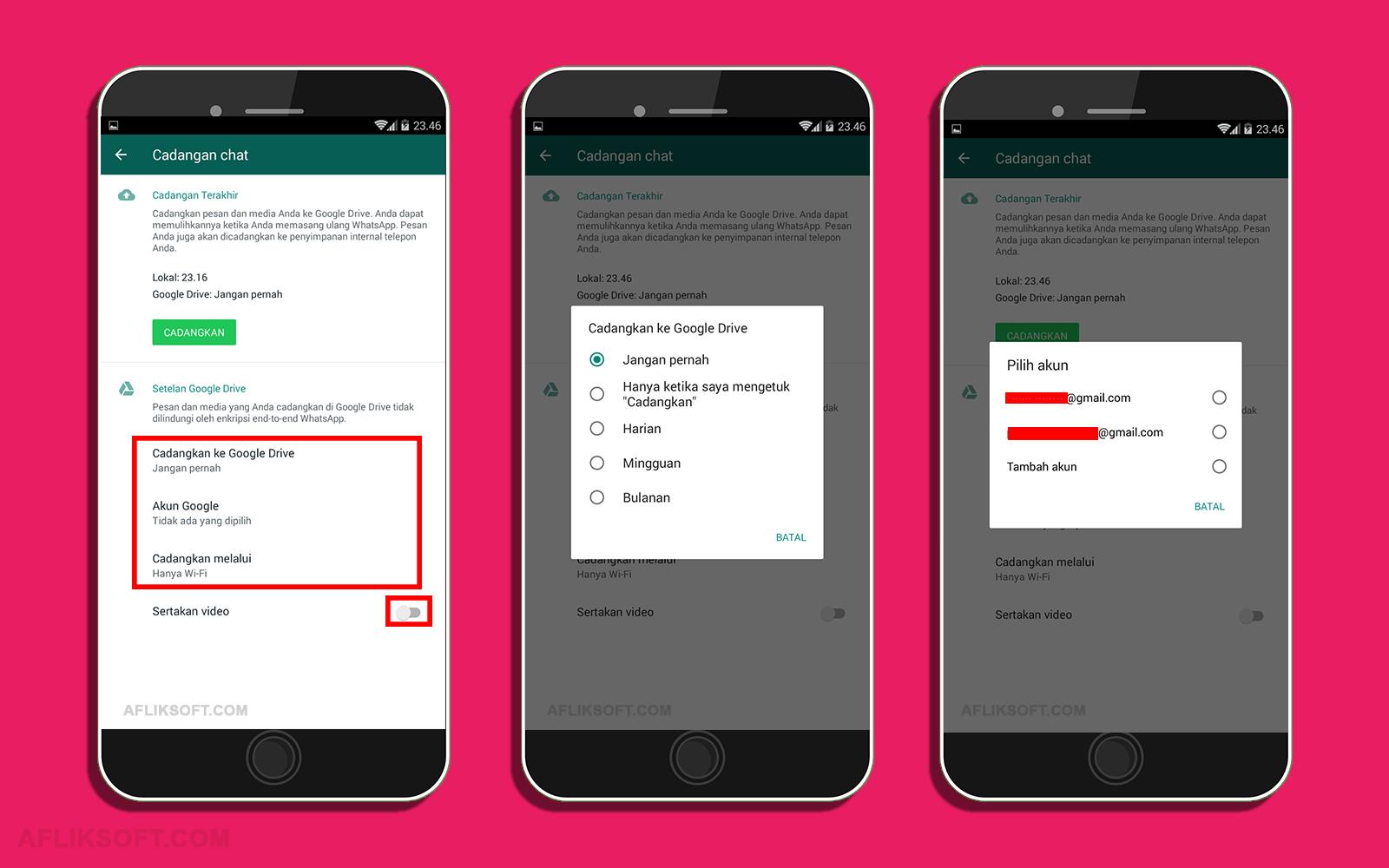 Cara Cadangkan Chat Whatsapp GDrive