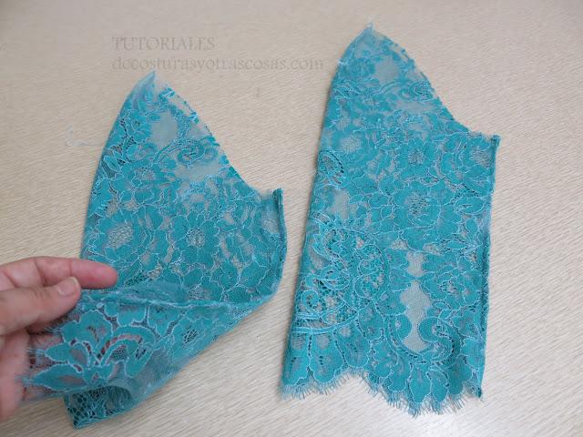 como coser encaje con costura francesa