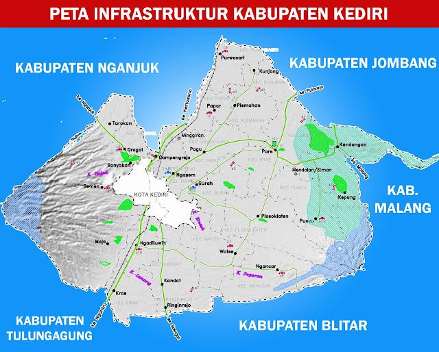 Gambar Peta Infrastruktur Kabupaten Kediri