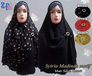 Jilbab khimar Terbaru Sifon Ceruti Bolak Balik Model Baru