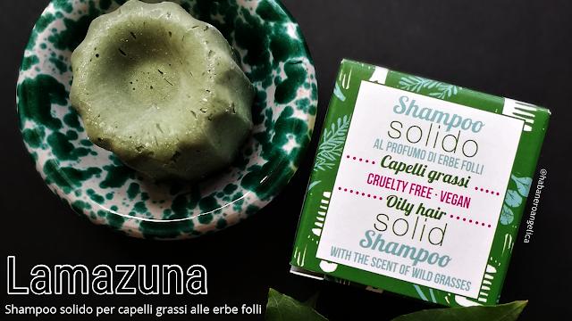 Lamazuna Shampoo solido alle Erbe folli