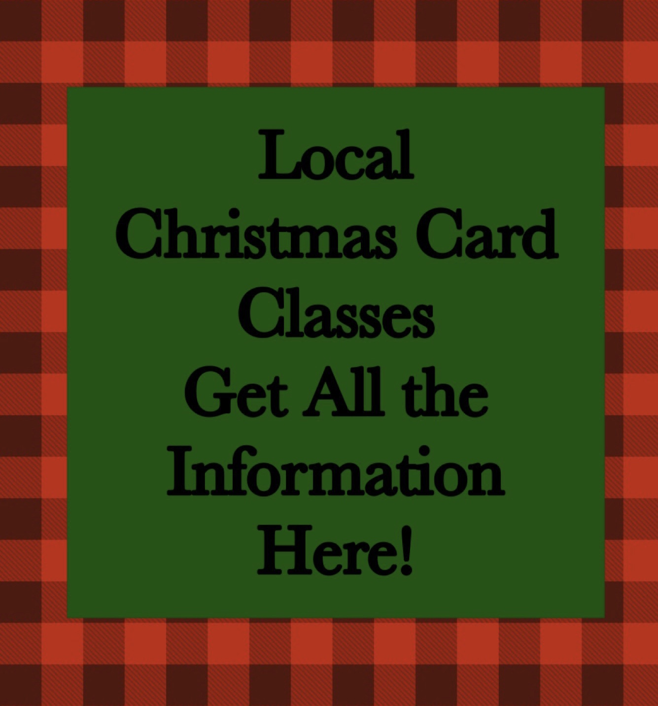 2019 Christmas Card Classes