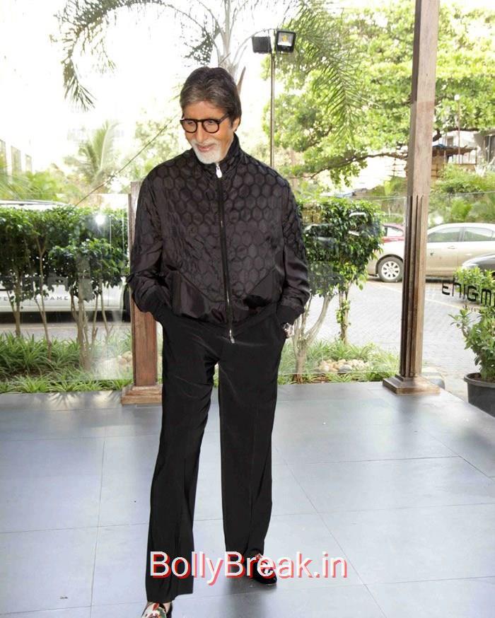 Amitabh Bachchan, Deepika Padukone in Jeans & Top at Piku movie Press Conference
